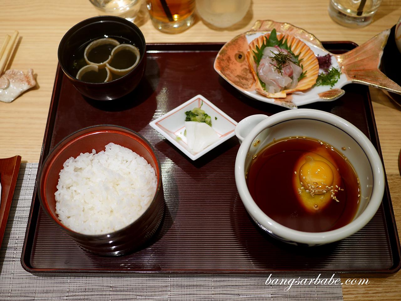 Tai-meshi at Kadoya