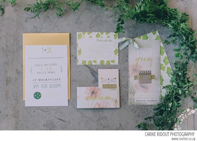 Botanical wedding stationary by Rebelove Stationary