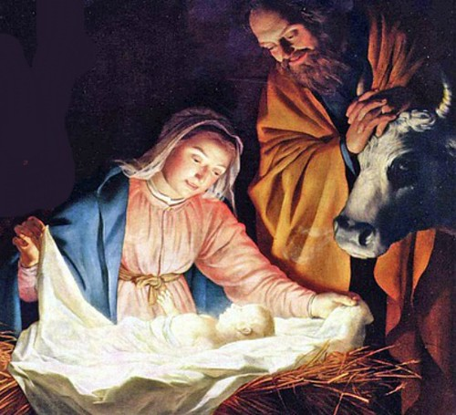 The Adoration of the Shepherds, a painting by Gerard van Honthorst, 1622
