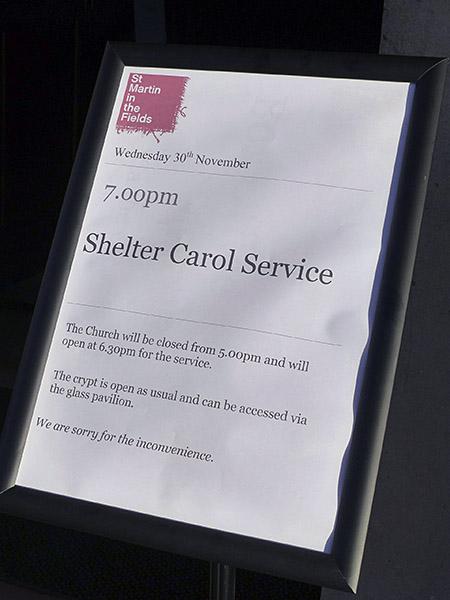 shelter carol service
