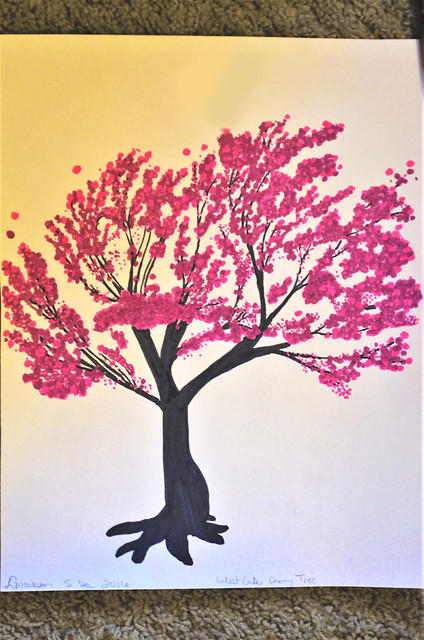 Cherry Tree in Marker