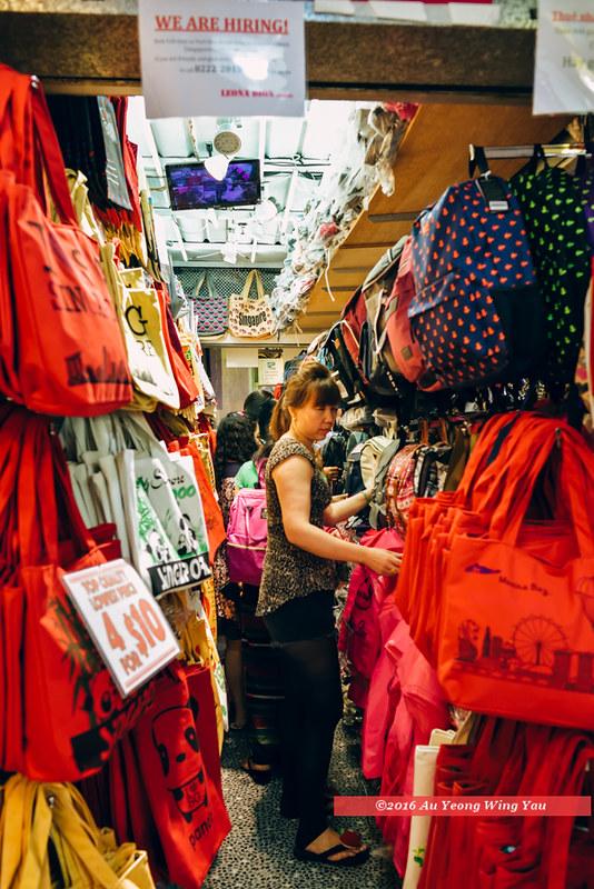 Singapore 2016: Bugis Village - Corridor Of Bags