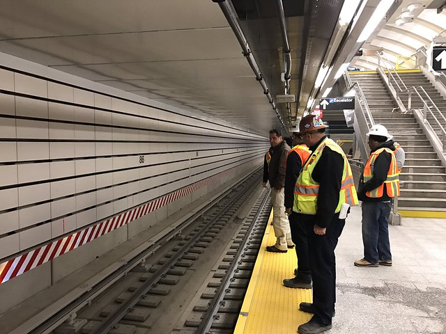 Gov. Andrew Cuomo stopped by the 86th St. station over the weekend to check out progress on the Second Ave. Subway as the project's opening date nears. (Photo via Gov. Andrew Cuomo on flickr)
