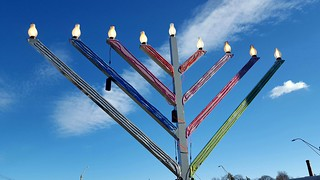 Newton Centre menorah