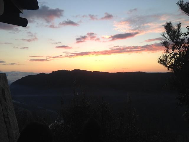城山 猿啄城展望台 初日の出待ち