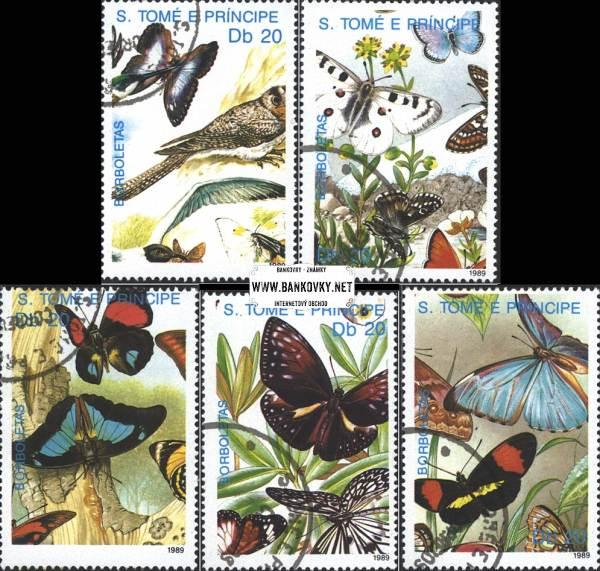 Známky Svätý Tomáš 1989 Motýle, razítkovaná séria