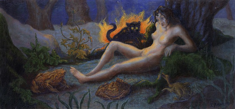 Paul Ranson - Witch with Cat, 1899