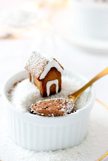 Schneekugel Dessert (Schokoladencreme)