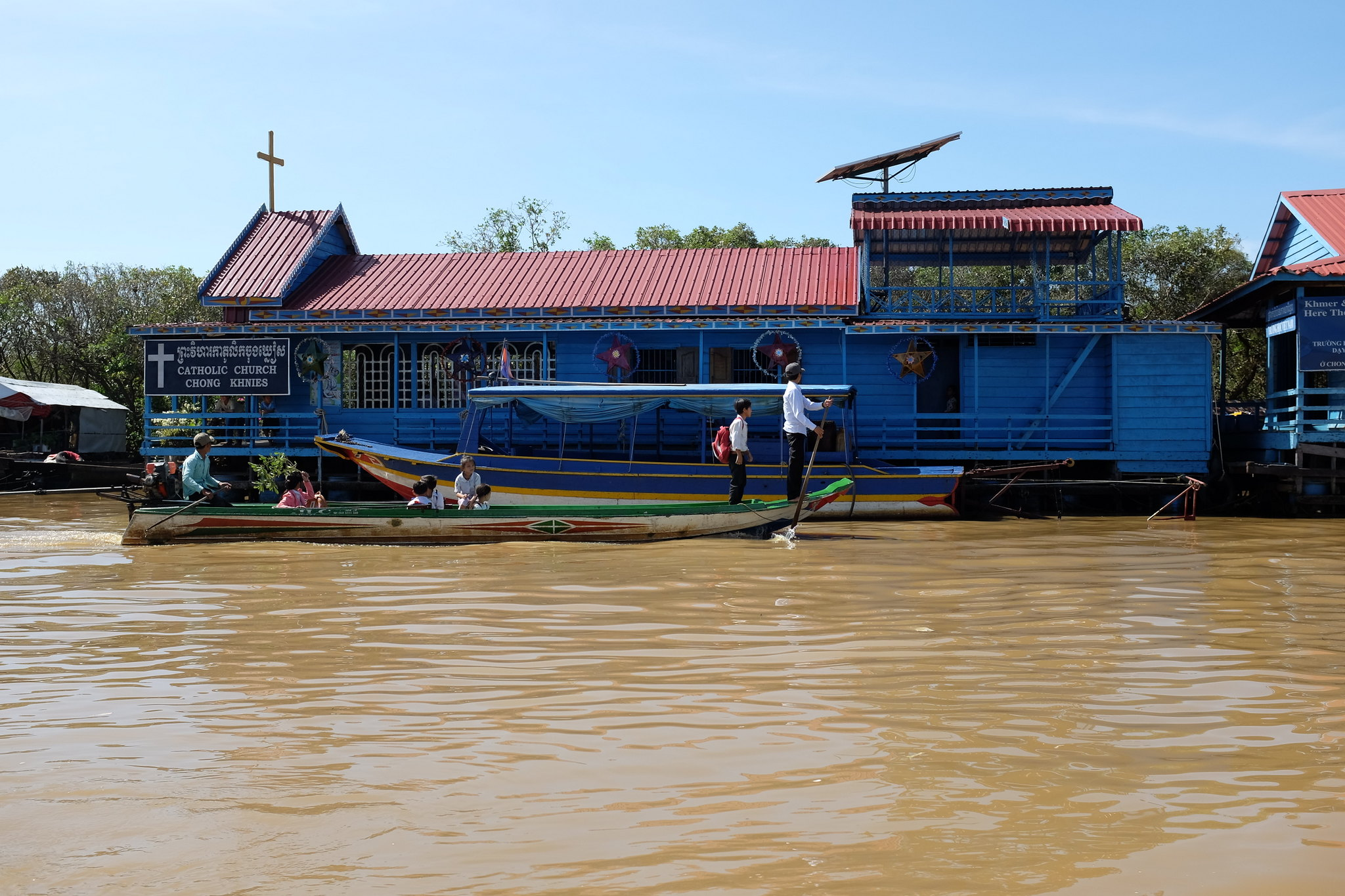 Cambodia auf dem Tonle Sap
