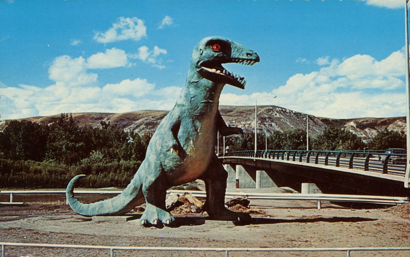 T Rex, Dinosaur Valley Bridge, Drumheller, Alberta