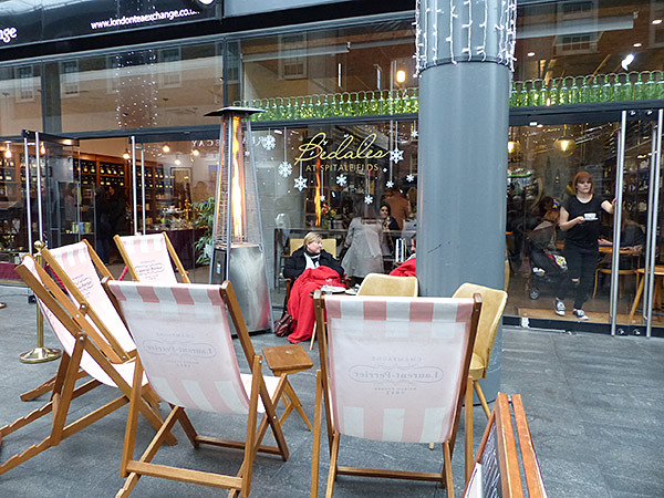 transats à Spitalfields market