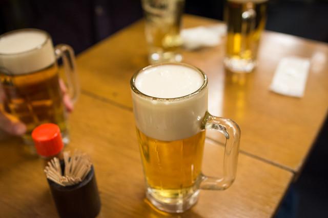 歩いた後に飲んだビールの写真