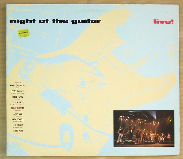 "NIGHT OF THE GUITAR with Steve Howe, Leslie West, Robbie Krieger, Randy California, Steve Hunter, Pete Hacock, ANdy Powell, Ted Turner, Alvin Lee 12"" MAXI-SINGLE / LP VINYL"
