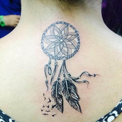 #dreamcatcher #birds #feather #tattoo #tattooink by #deepa ...