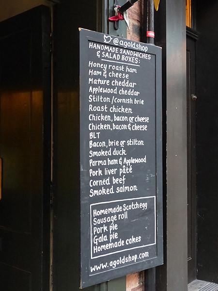menu A. Gold