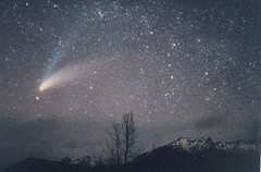 Olympic Mountains / Comet Hale-Bopp | by StarmanMike