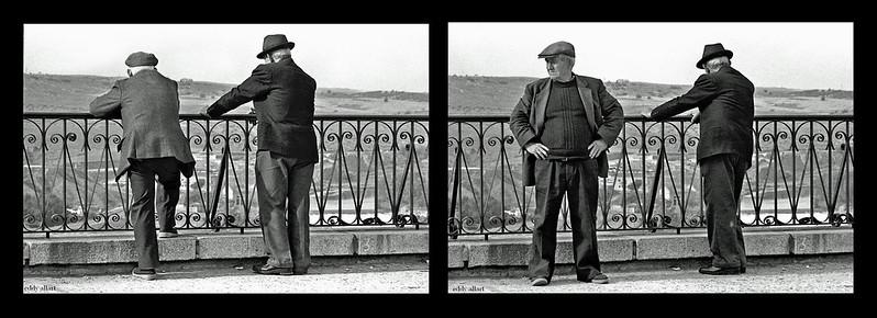 Ancianos en el Paseo del Miradero de Toledo en 1981. Fotografía de Eddy Allart © Eddy Allart