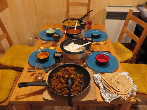 Indisches Abendessen bei Freunden