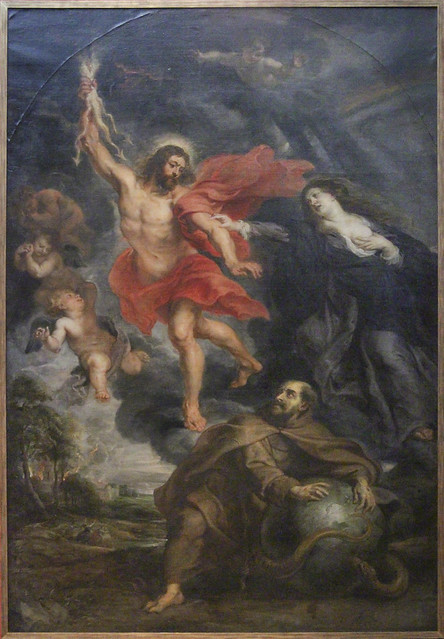 The Intervention of the Holy Virgin and St. Francis holds Christ's wrath, Rubens atelier
