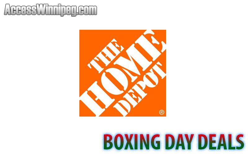 Home depot boxing day deals 2016 access winnipeg for Deals by depot