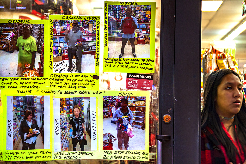 Photos of shoplifters at Dollar store at 12th and Chesnut--Center City