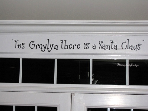 Yes Graylyn there is a Santa Claus-Housepitality Designs