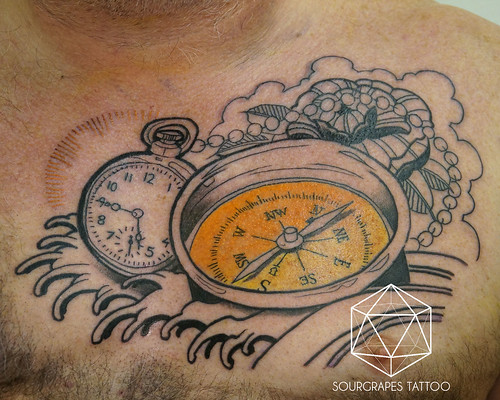Nautical Neo- Traditional Compass Tattoo | Flickr - Photo ...