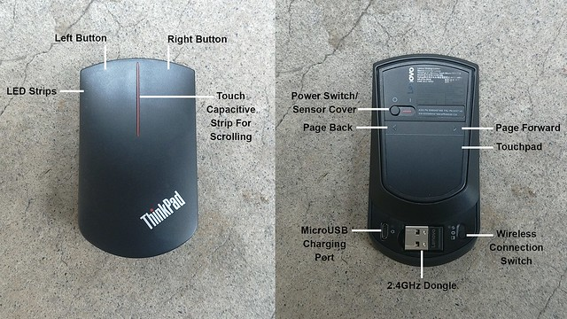 ThinkPad X1 Wireless Touch Mouse features