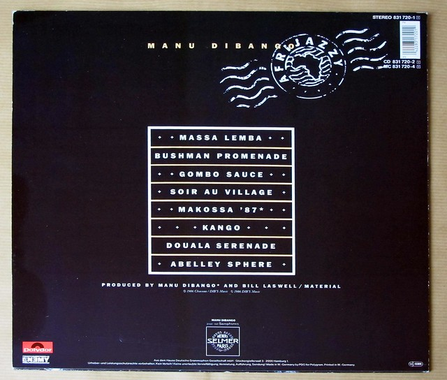 "Manu Dibango Afrijazzy makasso 12"" LP VINYL"