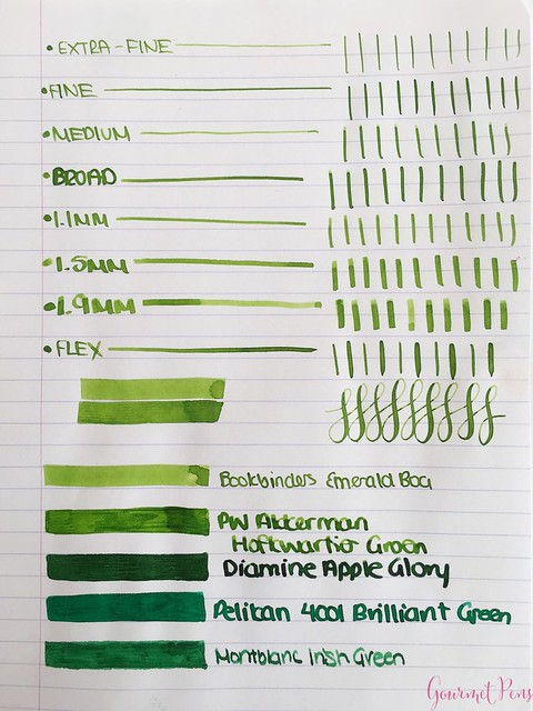 Ink Shot Review Bookbinders Emerald Boa @AndersonPens 5