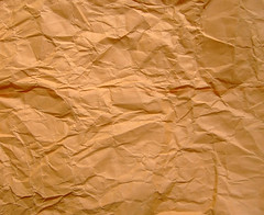 crumply brown paper