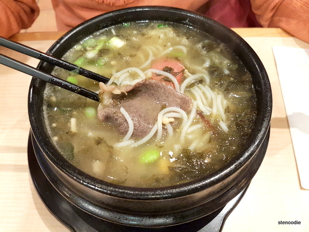 Duck Soup and Preserved Vegetable Rice Noodle