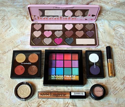 2016 make-up inventory: eye shadow