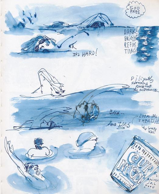 Sketchbook #101: Swim Meet at Night