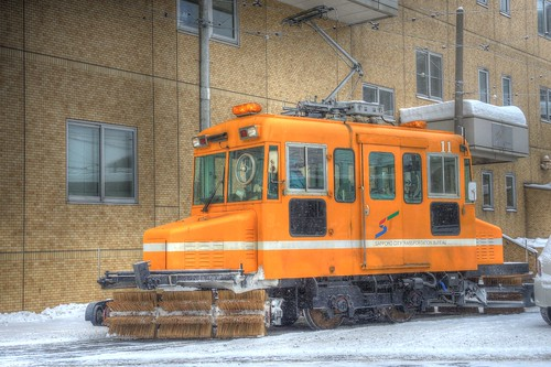 Tramcars at Sapporo on DEC 29, 2016 vol01 (4)