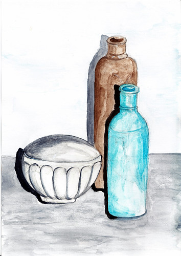 Still life 1 - ink and watercolour
