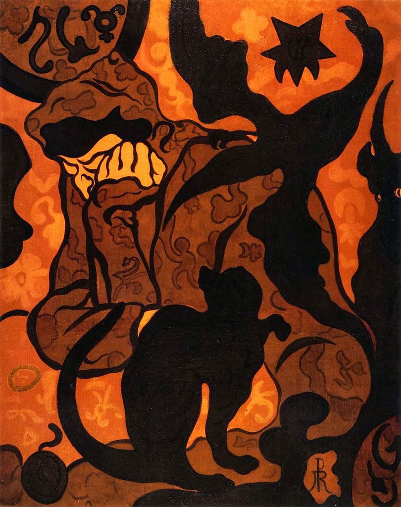 Paul Ranson, The Witch with Black Cat, 1893