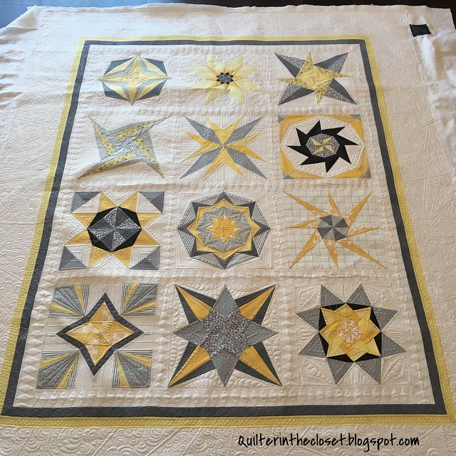 Lucky Star 2013, quilting complete.