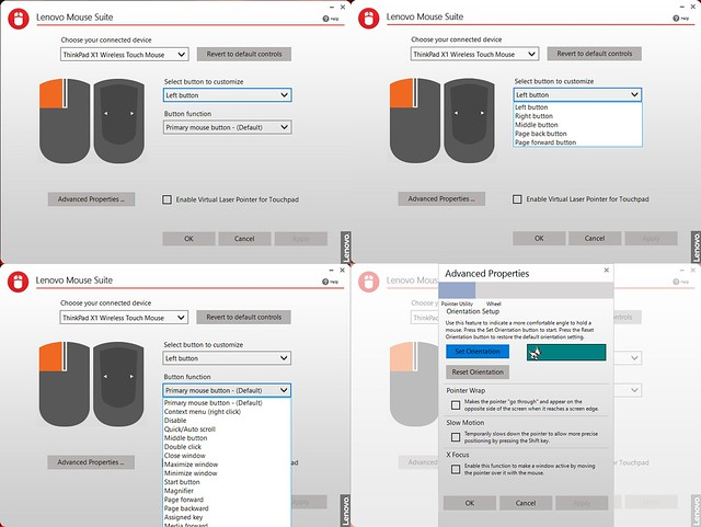 ThinkPad X1 Wireless Touch Mouse app