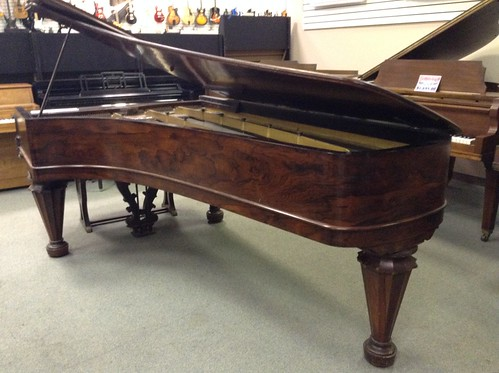 Chickering  concert grand built in 1856