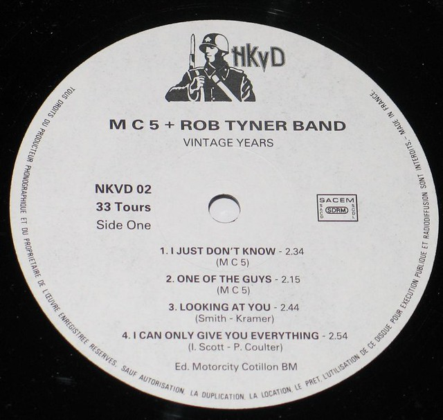 """MC5 Vintage Years with Rob Tyner Band Signed 12"""" vinyl LP"""