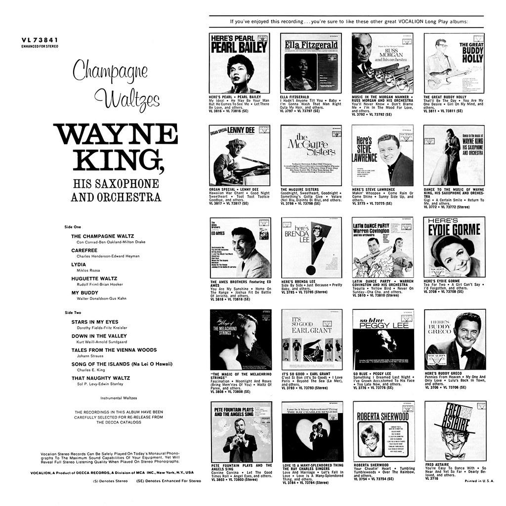 Wayne King - Champagne Waltzes