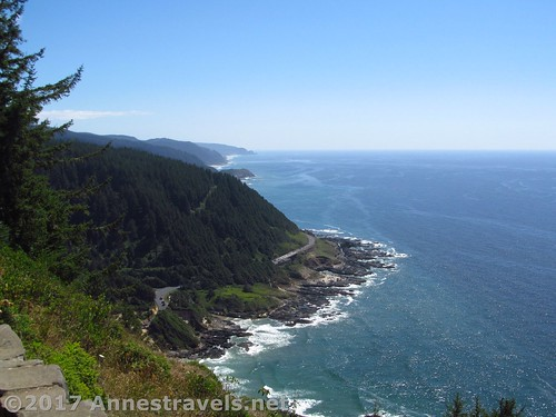 Views of the rest of Cape Perpetua from near the Stone Shelter, Oregon