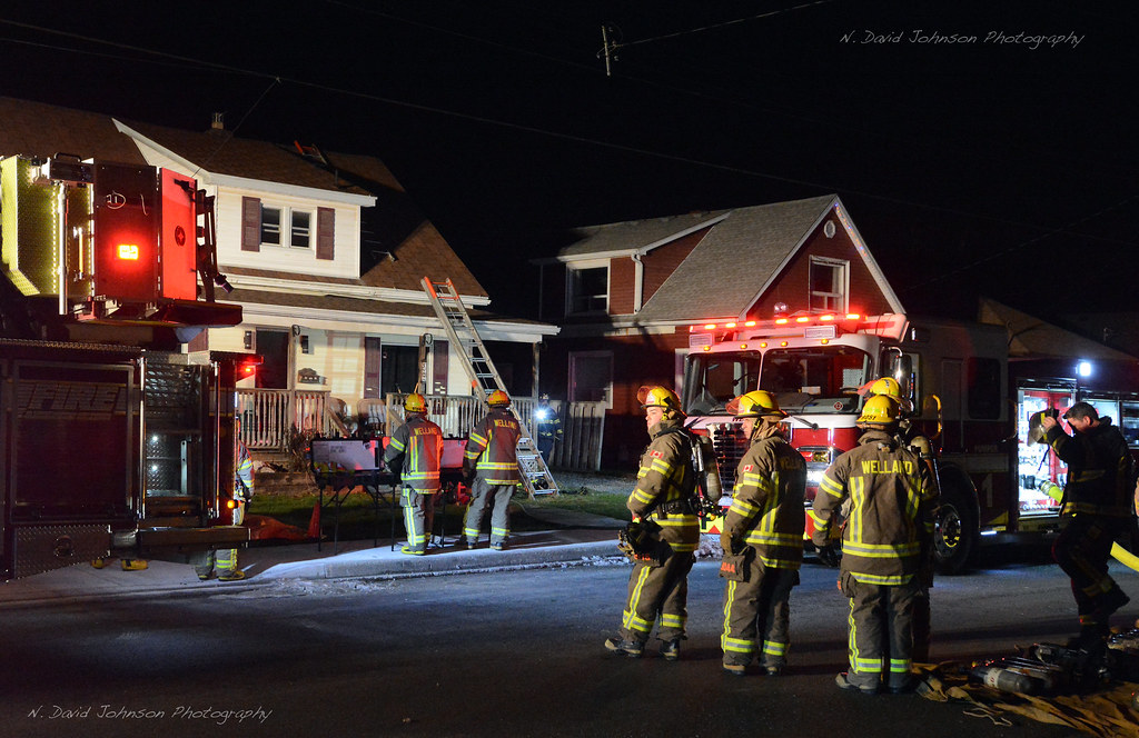 Wright St. fire - Welland