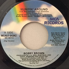 BOBBY BROWN:HUMPIN' AROUND(LABEL SIDE-A)