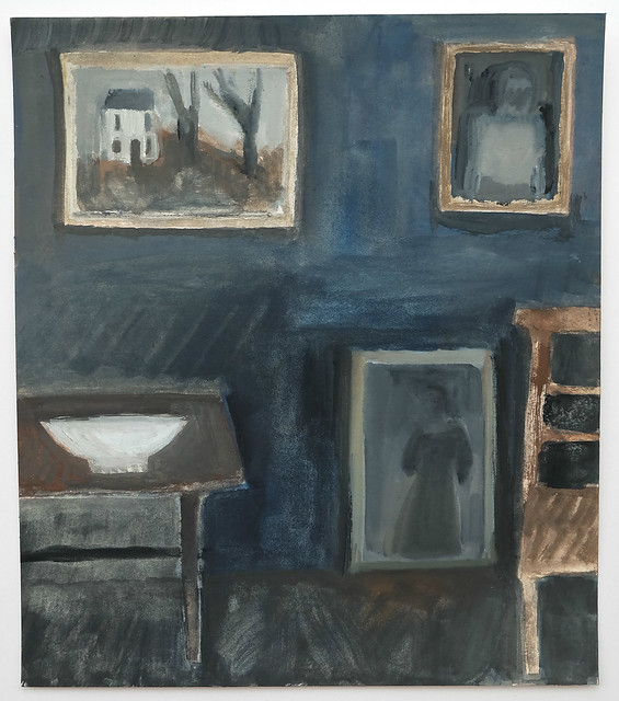 interior with white cottage painting