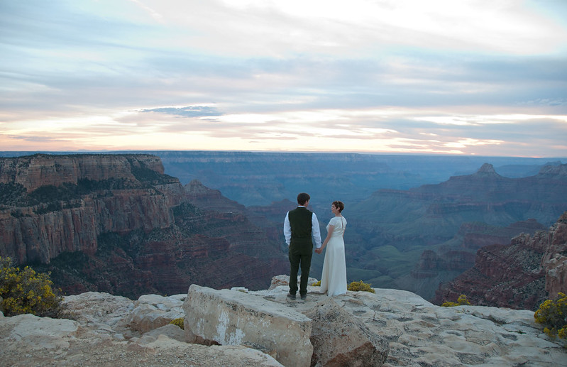 Wedding Party at Grand Canyon