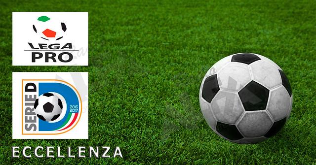 Campo di calcio con Lega Pro serie D ed Eccellenza