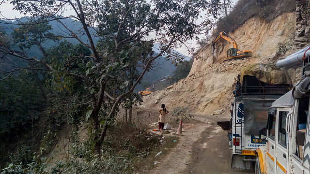 Roadworks on Melli - Jorethang road