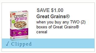 Great Grains and Honey Bunches of Oats Cereal